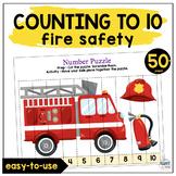 Preschool Math Firefighter Number Activity
