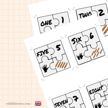 Numbers Puzzles 1 to 10⎜Number Recognition and Counting⎜ Printable Puzzles