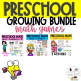 Preschool Math Games and Activities GROWING Bundle- Distance Learning