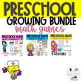 Preschool Math Games and Activities GROWING Bundle- Distan