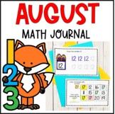Preschool Math Journal- August