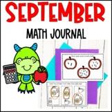 Preschool Math Journal- September