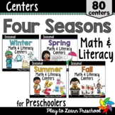 Preschool Math & Literacy Centers - 4 Seasons Bundle