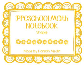 Preschool Math Notebook - shapes