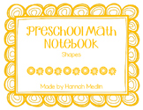 Preschool Math Notebook - shapes