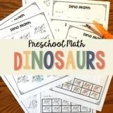 Preschool Math - Pre-K Math Practice Worksheets 1-10: Dinosaurs