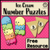 Preschool Math Puzzles, Free Printable Number Matching Math Activity