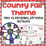 Preschool Math: Rectangles, #3, Sort by Attribute-County Fair Theme