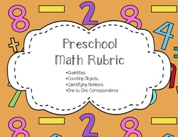 Math Rubric for Preschool