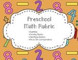 Math Rubric for Preschool