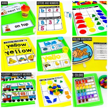 Preschool Math: Sort and Classify with Color Words and Positional Words