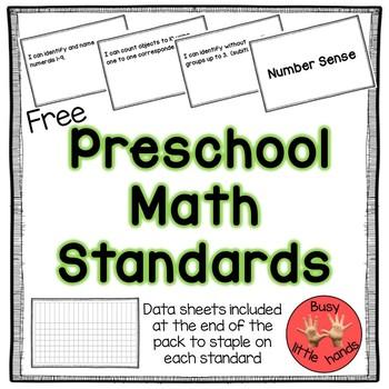 Preschool Math Standards