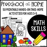Preschool Math Printable Worksheet Activities