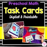 Preschool Math Task Cards (Digital & Printable)