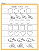 Preschool Math (Tracing & Counting)
