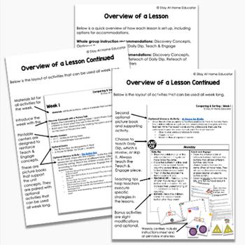 Preschool Math Unit - COMPARING AND SORTING