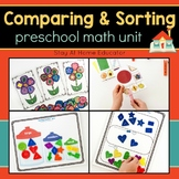 Preschool Math Unit - COMPARING AND SORTING
