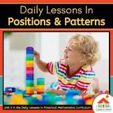 POSITIONS & PATTERNS - Preschool Lesson Plans