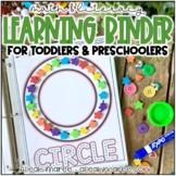 Preschool Math and Literacy Binder - Preschool & Toddler Learning Binder
