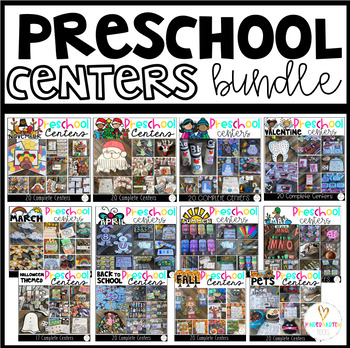 Preschool Math and Literacy Hands-On Centers for the Year {Growing Bundle}