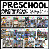 Preschool Math and Literacy Hands-On Centers for the Year