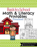Preschool Worksheets - Back to School