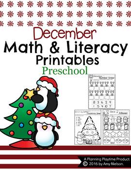 Preschool Worksheets - December