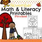 Preschool Worksheets - November
