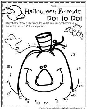 Preschool Worksheets - October by Planning Playtime | TpT