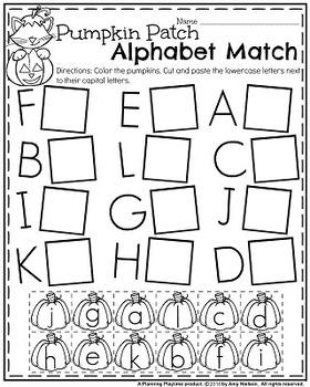 preschool worksheets october by planning playtime tpt. Black Bedroom Furniture Sets. Home Design Ideas
