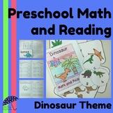 Preschool Math and Reading Activities: Dinosaur Theme