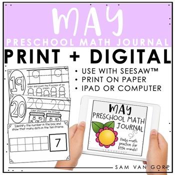 Preschool May Math Journal