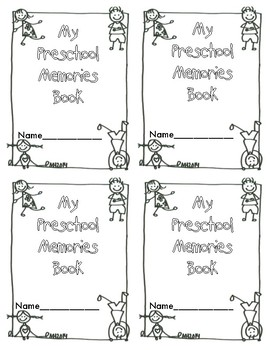 Preschool Memories book