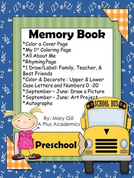 graphic regarding Preschool Memory Book Printable named Preschool Memory Guide Worksheets Instruction Products TpT