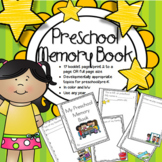 Preschool PreK Memory Book Beginning or End of Year Activity Color and BW