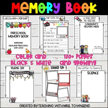 It's just an image of Memory Book Printable for year