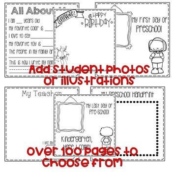 Preschool Memory Book-Fits 8x8 Target Blank Books