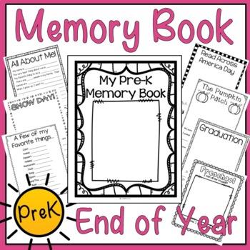 Preschool Memory Book (PreK End of Year Memory Book)