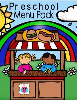 Preschool Menu Pack