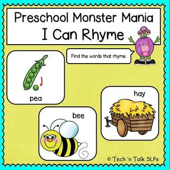Preschool Monster Mania - I Can Rhyme
