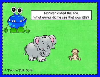 Preschool Monster Mania - I Know Opposites - Interactive e-book