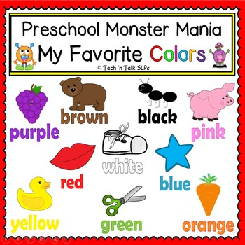Preschool Monster Mania - My Favorite Colors