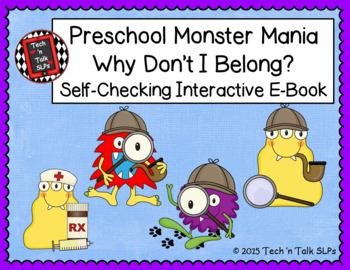 Preschool Monster Mania - Why Don't I Belong - Self Checking Interactive E-Book