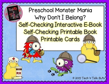 Preschool Monster Mania - Why Don't I Belong - BUNDLE