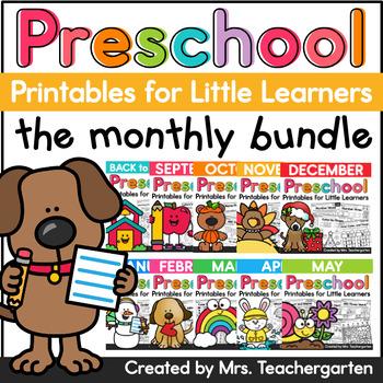 Preschool Monthly Printables Bundle