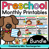 Preschool Printables - Monthly Bundle