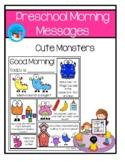 Preschool Morning Meeting - Cute Monsters