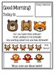 Preschool Morning Messages ~ Set 1