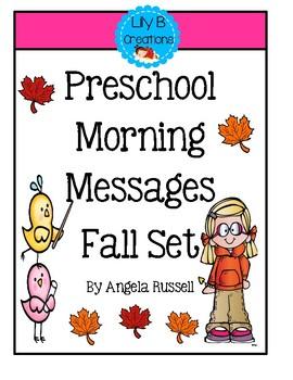 Preschool Morning Messages ~  Fall Set