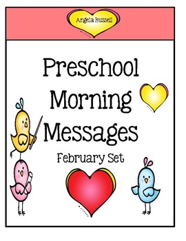 Preschool Morning Messages ~ February Set
